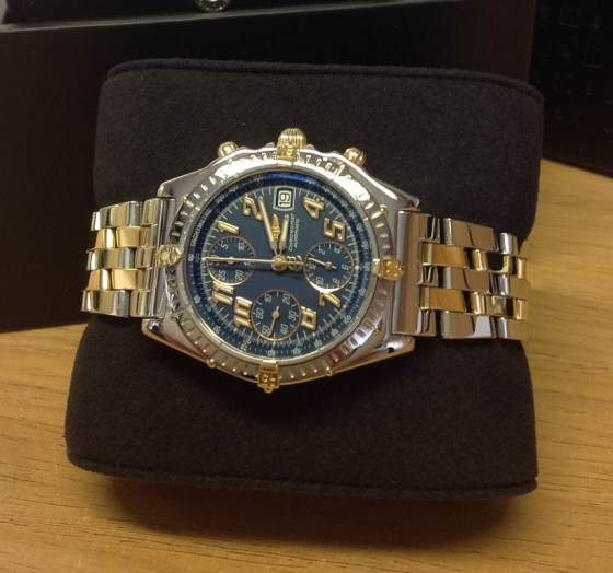 Breitling replica Chronomat Vitesse Bi:Colour Blue Dial B13050-1
