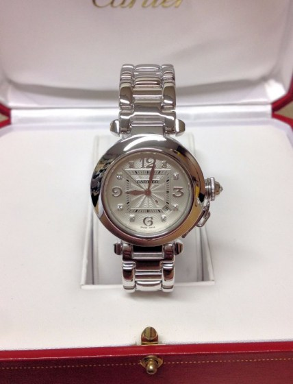 Cartier replica Pasha WJ1111M9 33mm White Gold335