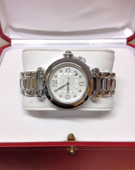 Cartier replica Pasha WJ1111M9 33mm White Gold463