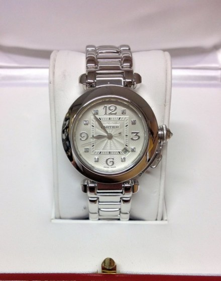 Cartier replica Pasha WJ1111M9 33mm White Gold579