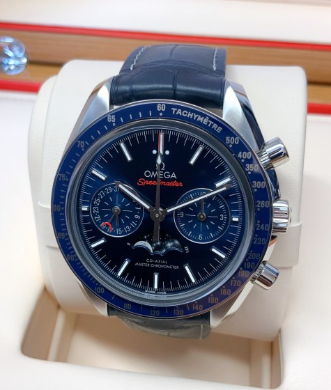 Omega replica Speedmaster Moonwatch Moonphase 304.33.44.52.03.001 orologio replica-5