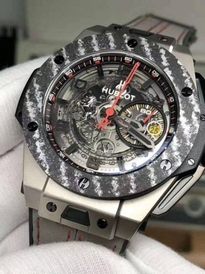 REPLICA HUBLOT BIG BANG FERRARI TITANIUM CARBON BEZEL WITH ASIA VALJOUX 77503
