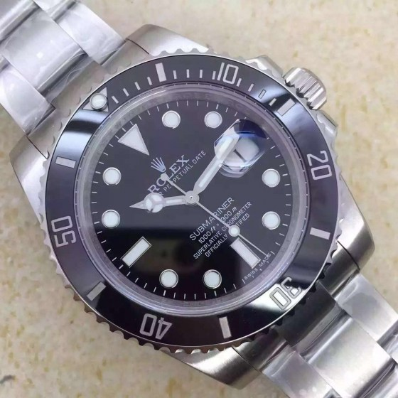 REPLICA ROLEX BLACK SUBMARINER 116610 LN V6S SUPER COPY WITH 3135 MOVEMENT10