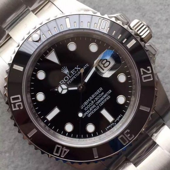 REPLICA ROLEX BLACK SUBMARINER 116610 LN V6S SUPER COPY WITH 3135 MOVEMENT