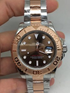 REPLICA ROLEX YACHTMASTER 40MM 116623 TWO TONE BROWN DIAL