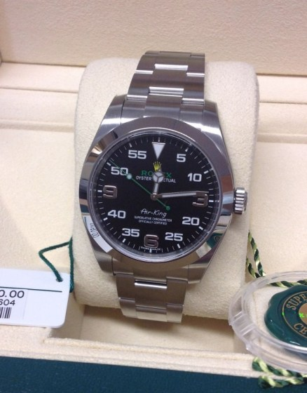 Rolex replica Air-King 116900 40mm Black Dial
