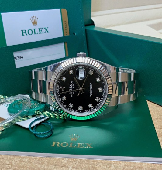Rolex replica Datejust 41mm 126334 Black Diamond-3