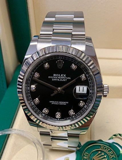 Rolex replica Datejust 41mm 126334 Black Diamond-5