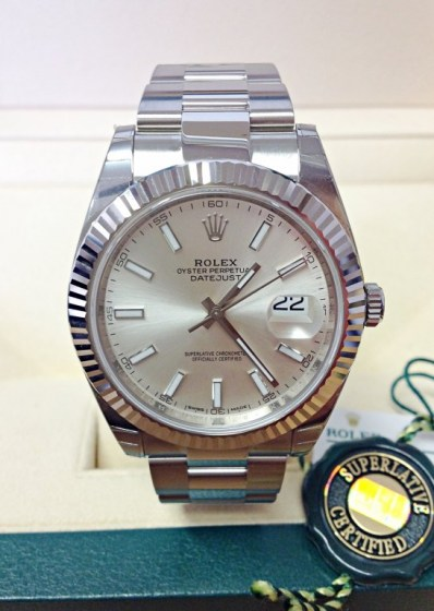 Rolex replica Datejust 41mm 126334 Silver Dial2