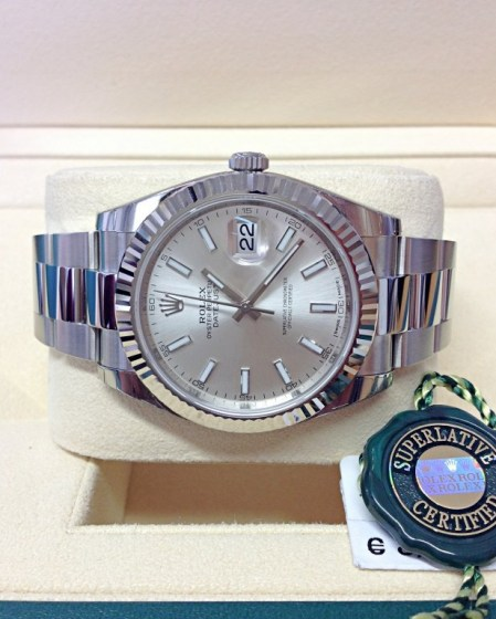 Rolex replica Datejust 41mm 126334 Silver Dial3