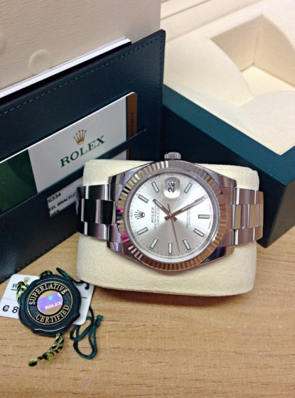 Rolex replica Datejust 41mm 126334 Silver Dial5