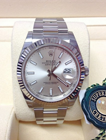Rolex replica Datejust 41mm 126334 Silver Dial
