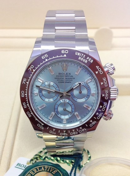 Rolex replica Daytona 116506 Platinum Ice Blue Diamond Dial-1
