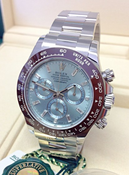Rolex replica Daytona 116506 Platinum Ice Blue Diamond Dial-5
