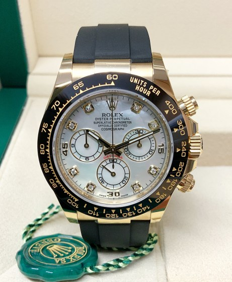 Rolex replica Daytona 116518LN Yellow Gold Oysterflex-4