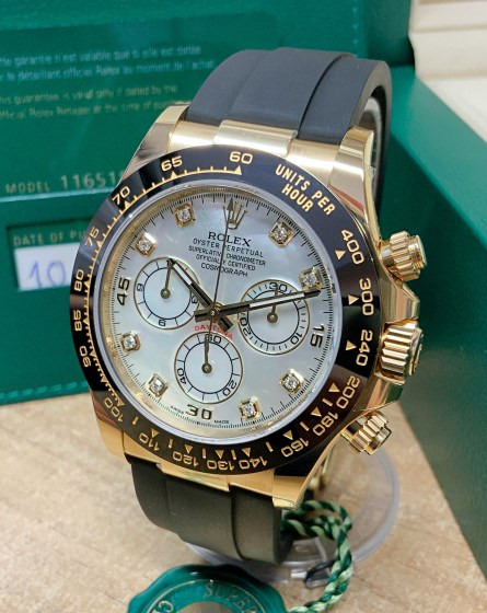 Rolex replica Daytona 116518LN Yellow Gold Oysterflex-8