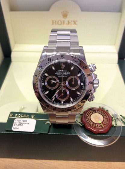 Rolex replica Daytona 116520 Black Dial2
