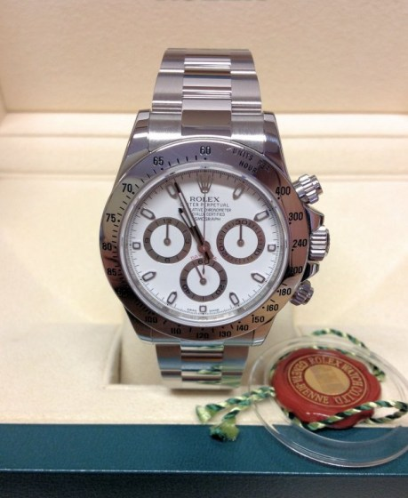 Rolex replica Daytona 116520 Stainless Steel White Dial3