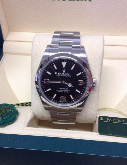 Rolex replica Explorer I 214270 39mm quadrante nero