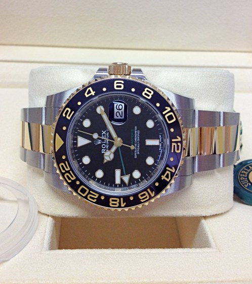 Rolex replica GMT Master II 116713LN Bi:Colour3
