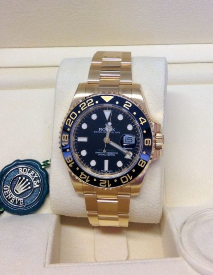 Rolex replica GMT Master II 116718LN Gold3