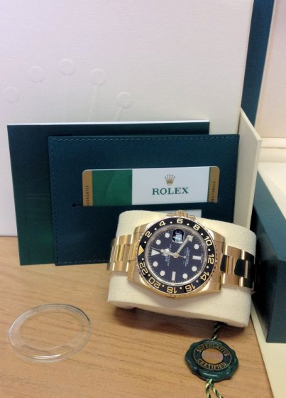 Rolex replica GMT Master II 116718LN Gold6
