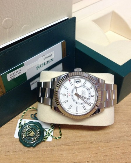 Rolex replica Sky-Dweller 326934 Stainless Steel3