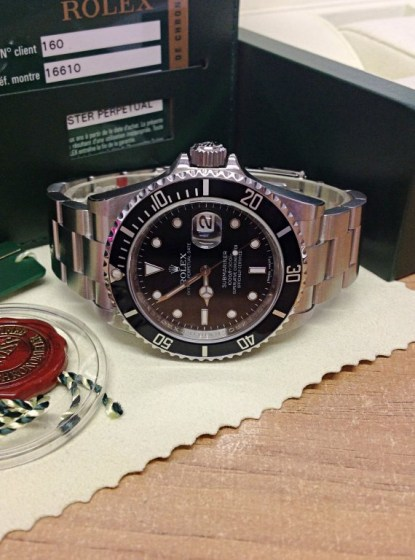 Rolex replica Submariner Date 16610LN New Old Stock2