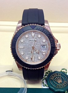 Rolex replica Yacht-Master 40 116655 Rose Gold diamond pave-2
